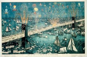 Opening of the Brooklyn Bridge in 1883.- Metropolitan Museum of Art
