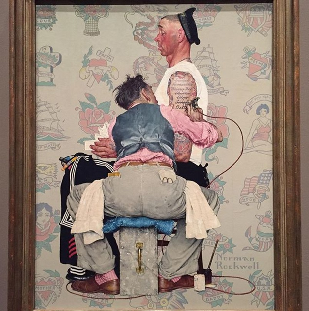 norman_rockwell_painting_the_tattoo_artist_1944